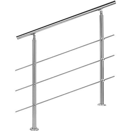 Barandilla acero inox 3 varillas 100cm Pasamanos escalera Parapeto