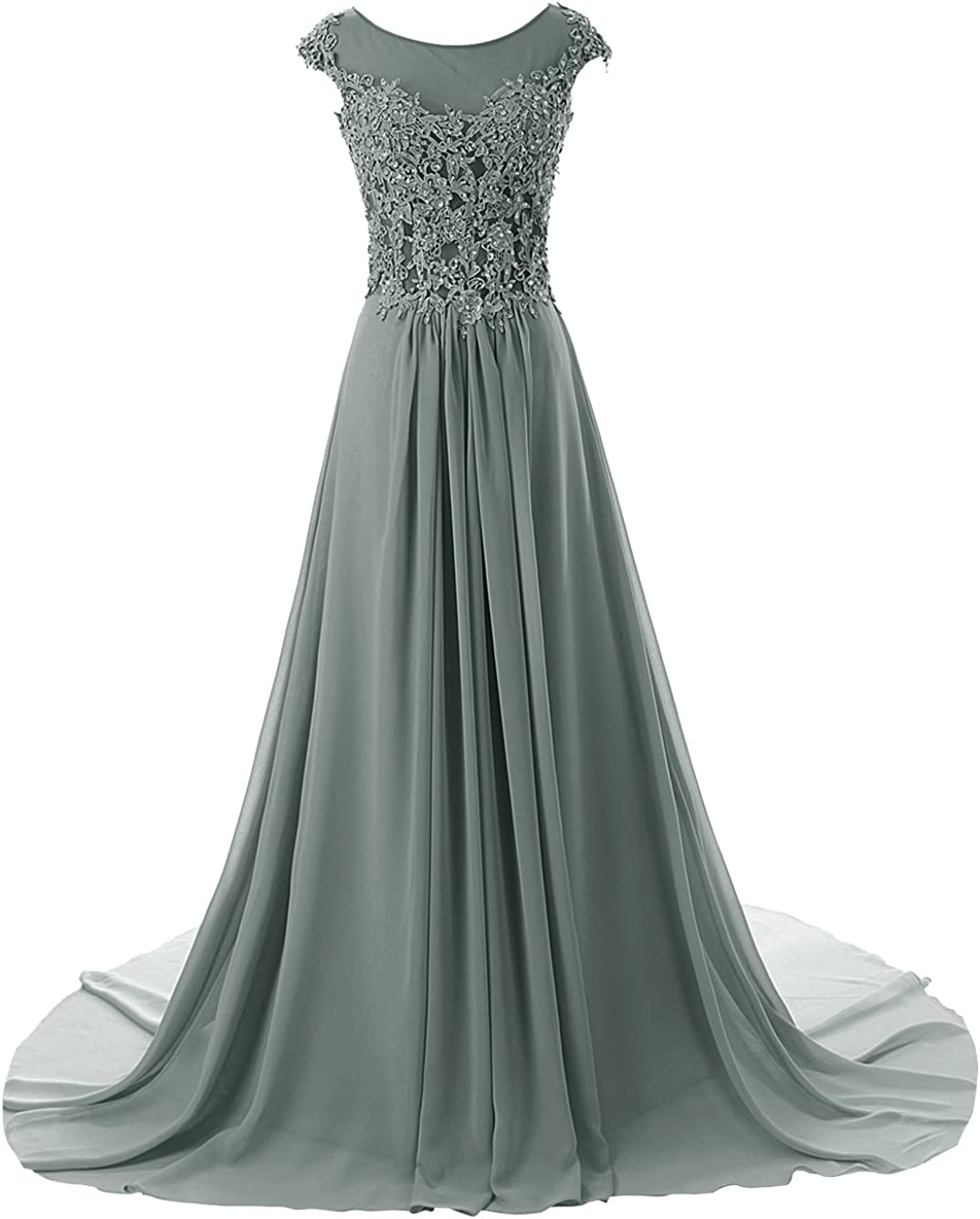 Prom Dress Long Formal Evening Gowns Lace Bridesmaid Dress Chiffon Prom Dresses Applique