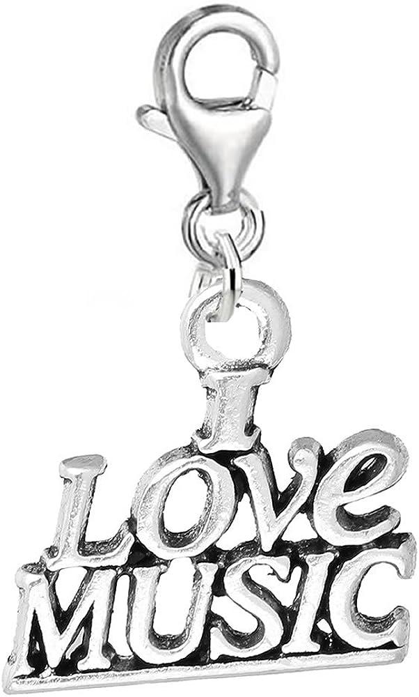 Sexy Sparkles Clip on I Love Pendant for Regular dealer OFFicial site Music o Charm Bracelets