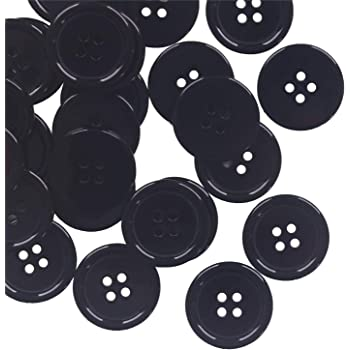 White 25MM YaHoGa 50PCS 1 Inch 25mm Buttons White Resin Buttons for DIY Sewing Tailor Crafts Coats Clothes