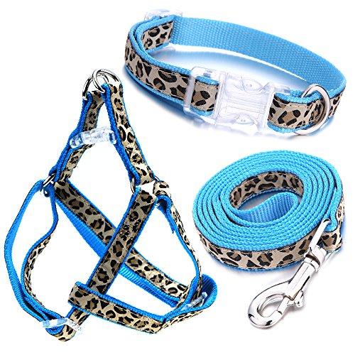 Mile High Life Hundehalsband, Geschirr und Leine | Leopard-Entwurf | Perfektes Zubehörteil für Spaziergänge mit Ihrem Hund(PartialUpdate, petsuppliesmisc)