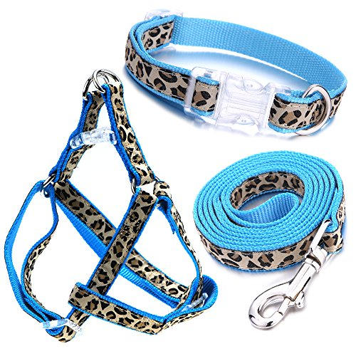 Mile High Life Dog Collar, Harness and Leash | Leopard Design | Perfect Accessory for Walking Your Dog