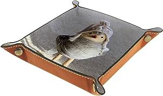 Vockgeng Poussin de poupée Boîte de Rangement Panier Organisateur de Bureau Plateau décoratif approprié pour Bureau à Domi...