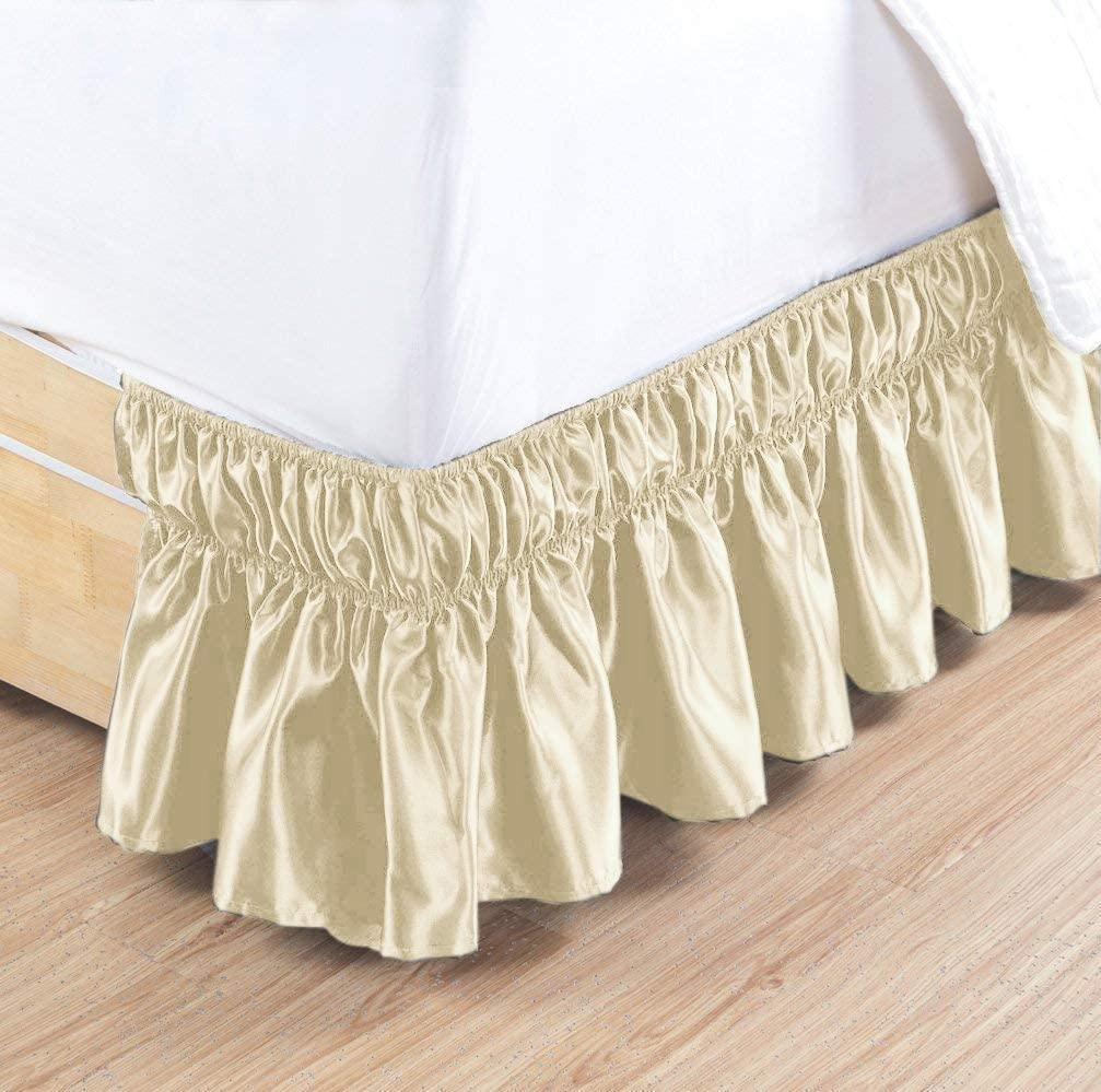 HR Luxury Linen - Satin 1 Portland Mall Pc Around Elastic Wrap Skirt Bed Sales results No. 1 Fully