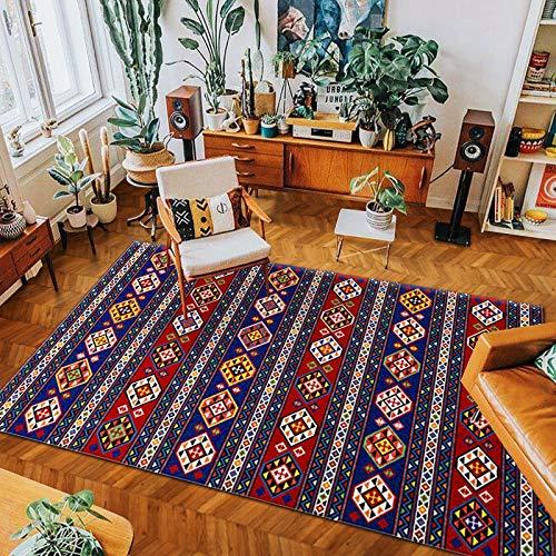 Michance Nordic Retro Bohemian Bedruckten Teppich Rutschfesten Saugfähigen Couchtisch Sofa Boden Kissen Schlafzimmer Hotel Gästehaus Party Wohnzimmer Teppich