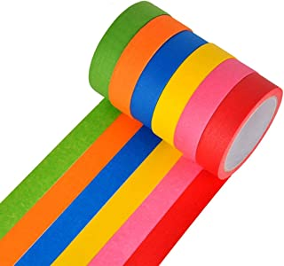 Colored Masking Tape 6 Different Color Rolls