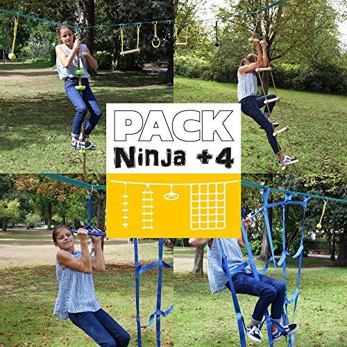 France Trampoline depuis 1971 Pack 4 Accessoires Parcours Ninja