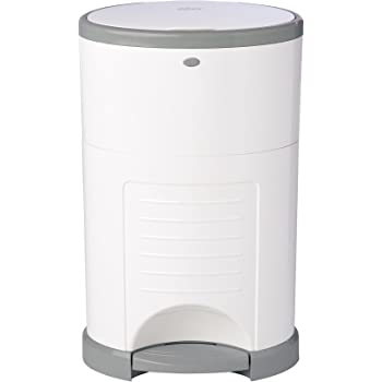 Dekor Mini Hands-Free Diaper Pail | White | Easiest to Use | Just Step – Drop – Done | Doesn't Absorb Odors | 20 Second Bag Change | Most Economical Refill System