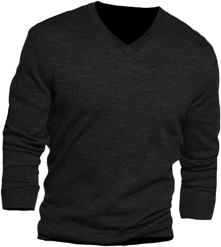 Club Room Mens Merino Wool V- Neck Pullover Sweater