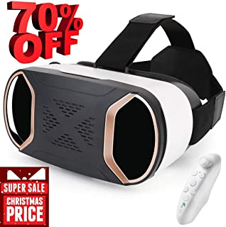 Pansonite Virtual Reality Headset for Games Movies Portable VR Glasses Goggles with Eye-Protecting System