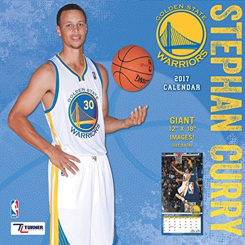 "Turner Licensing Sport 2017 Golden State Warriors Stephen Player Wall Calendar, 12""X12"" (17998011984)"