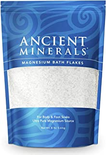 Ancient Minerals Magnesium Bath Flakes of Pure Genuine Zechstein Chloride - Resealable Magnesium Supplement Bag That Will ...