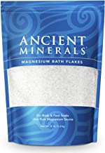 Ancient Minerals Magnesium Bath Flakes of Pure Genuine Zechstein Chloride - Resealable Magnesium Supplement Bag That Will Outperform Leading Epsom Salts (8 lb)