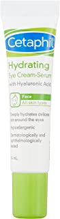 Cetaphil Hydrating Eye Cream-Serum with Hyaluronic Acid, 14 milliliters