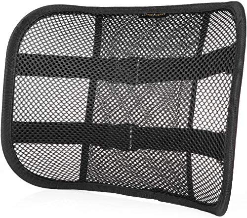 Price comparison product image Mesh Lumbar Support Back Cushion for Car Seat Desk Office Chair [Upgrade Version with Strap] - Recommended by Chiropractor Dr. Jose Guevara for Orthopedic Driving Comfort and Posture Support