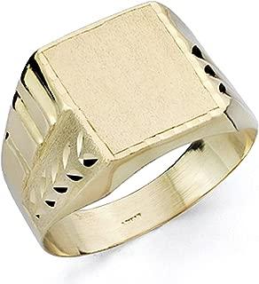 Sello oro 18k caballero tallado hueco asimétrico - Personalizable - GRABACIÓN INCLUIDA EN EL PRECIO