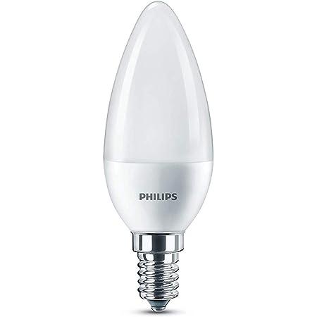 Philips ampoule LED Flamme E14 60W Blanc Chaud Dépolie
