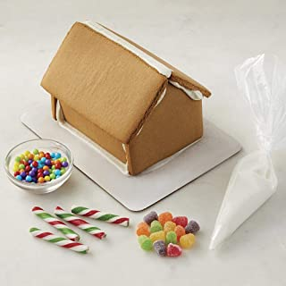 Wilton Christmas Gingerbread House Kit - Pre-Assembled, Ready to Decorate, Christmas Fun Decorating Kit, Includes: House, Icing, Fondant, Candies, Decorating Bag & Tip - Bundled with Extra Candy!