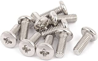 MroMax M3 x 25mm Phillips Pan Head Machine Screws 304 Stainless Steel Truss Head Bolts Phillips Drive for Cabinet Drawer Knob Pull Handle 10PCS