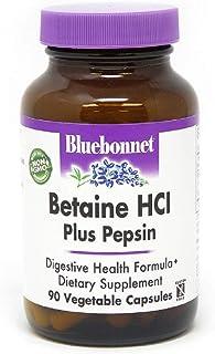 BlueBonnet Betaine HCI Plus Pepsin Vegetarian Capsules, 90 Count