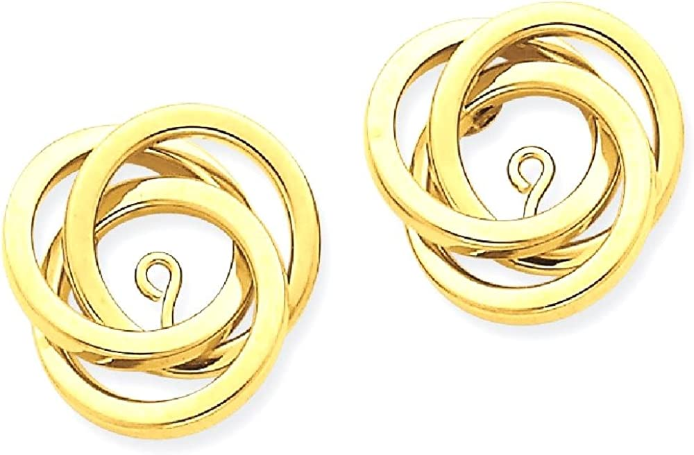 14k Yellow Gold Love Knot Ear Jacket Jackets For Studs Fine Jewelry For Women Gifts For Her