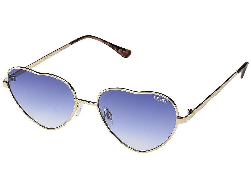 QUAY AUSTRALIA Kim (Gold/Blue Fade) Fashion Sunglasses