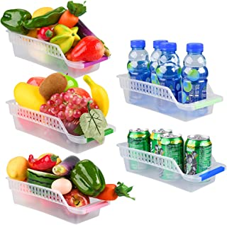 E-Senior Rangement Frigo, Rangement Refrigérateur, Empilable Panier Frigo, Panier de Rangement en Plastique pour Collecte ...