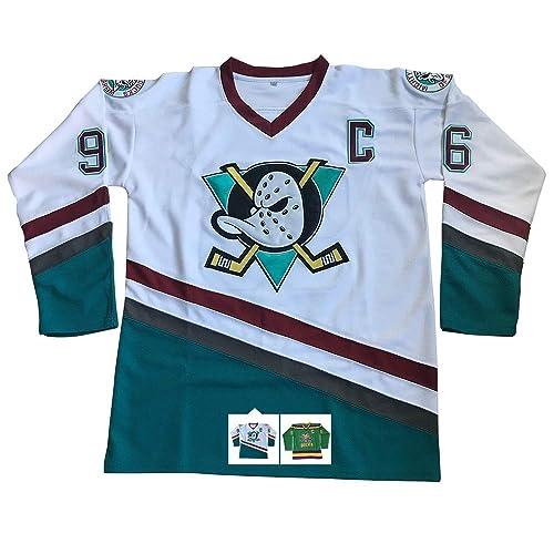 1a2f2f502 Charlie Conway  96 Mighty Ducks Ice Hockey Jersey S-XXXL