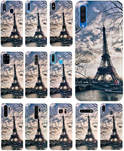 KX-Mobile Hülle für Samsung A71 Handyhülle Motiv 1452 Eifelturm Paris Frankreich Seine Premium Silikonhülle SchutzHülle Softcase HandyCover Handyhülle für Samsung Galaxy A71 Hülle