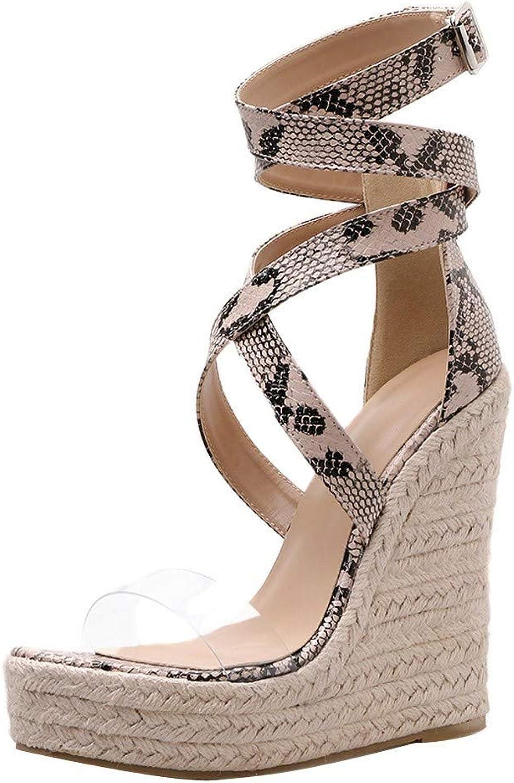 AopnHQ-Women's Gladiator Wedge Comfort Sandal,Women's Beach Sandal,Women's Open Toe High Heel Platform Sandals