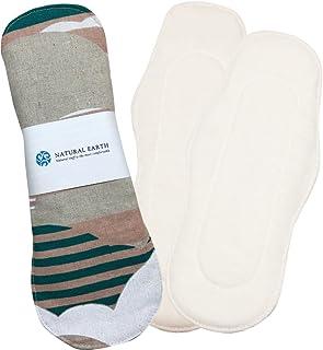 NATURAL EARTH [ナチュラルアース] 布ナプキン初めてセット パッド型 手作り 布ナプキン 防水布付き 【クラウドベジュ 7点セット】 <防水布を使用していますのでモレずに安心!>