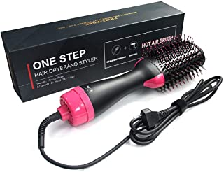 Vnique Hair Dryer and Styler Hot Air Brush & Volumizer, Salon Negative Ion Hair Straightener & Curly Hair Comb for All Hair Type, Reduce Frizz and Static Design