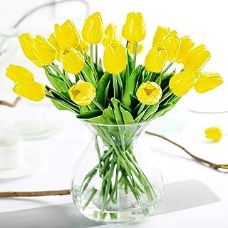 Hogar y Mas Jarr/ón Cristal Transparente 26 cm Floreros Decorativos Moderno Flores Decoraci/ón 26 x 8cm