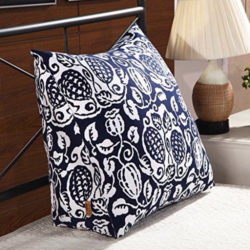 MMM- Triangle Coussin en trois dimensions coton toile de chevet oreiller lit dossier canapé taille coussin lavable (Couleur : #4)