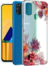 Fashionury ''Multicolor Floral Pattern'' Shock Proof Protective Soft Transparent Printed Back Case Cover for Samsung Galaxy M30s