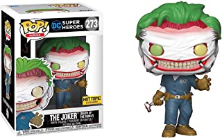 Funko The Joker [Death of The Family] (Hot Topic Exclusive): DC Universe x POP! Heroes Vinyl Figure & 1 POP! Compatible PET Plastic Graphical Protector Bundle [#273 / 37487 - B]