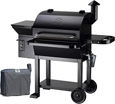 Z GRILLS 2020 Upgrate Wood Pellets Grill 1000 SQIN 20LB Hopper 8-in-1 Outdoor Smoker Grill (ZPG-10002B)