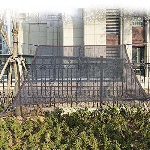 HXWJ Malla de protección Solar toldo Tela de Sombra Negra Malla de Sombra de Invernadero UV para Valla de jardín de Invernadero y balcón protección de Plantas Granero de Invernadero