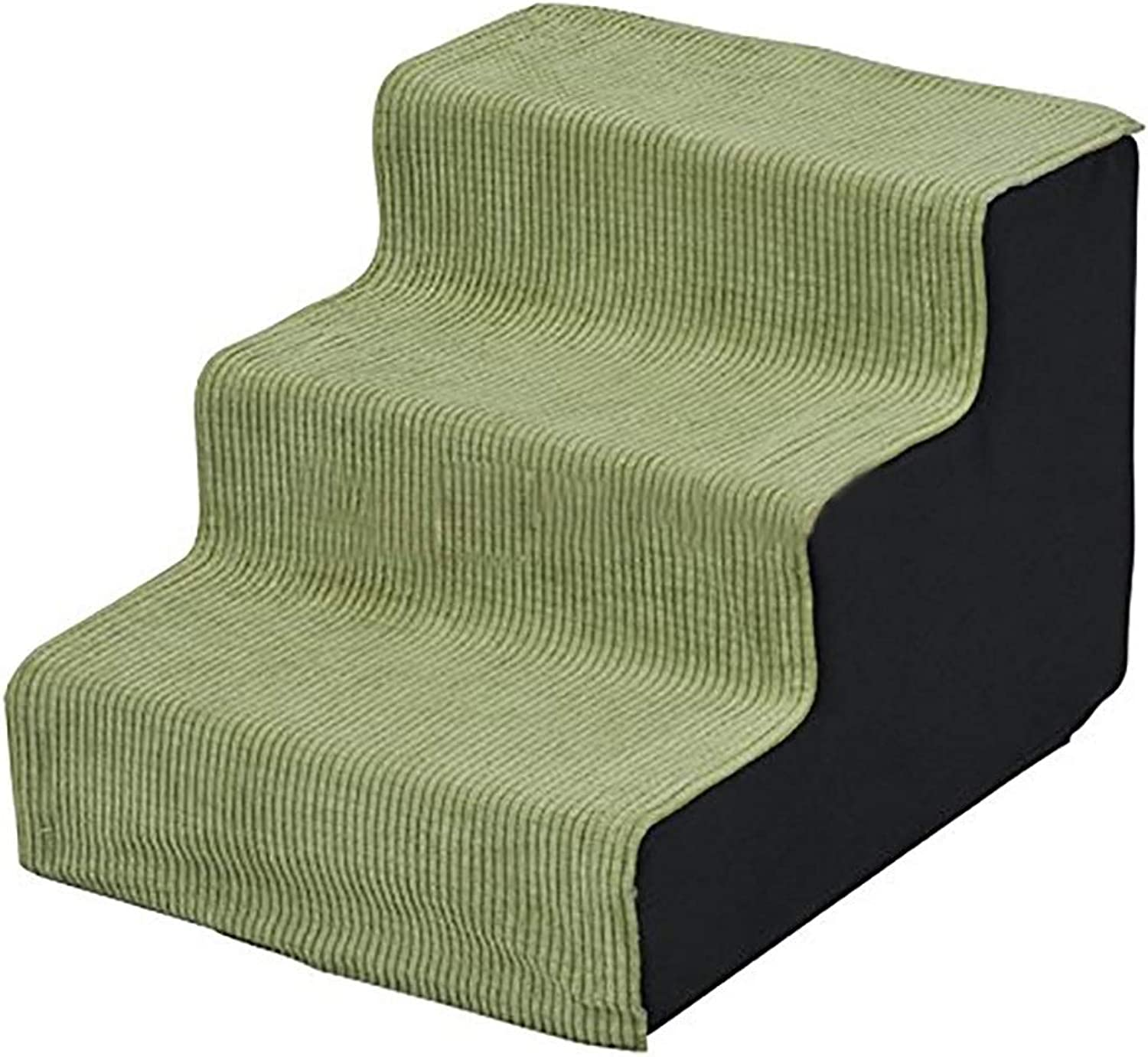 Pet Stairs Green 4step, Dog Threestory Stairs for Small to Medium Pets, Cat Climbing Stairs to the Bed (Size   H36cm)