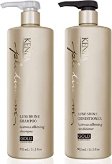 Kenra Luxe Shine Shampoo and Conditioner Set, 31.5-Ounce