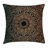 LarissaHi Gold Mandala Kissen Kissenbezug Geist Ritual Symbol kaleidoskopischen kosmischen...