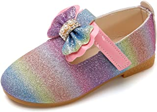 Fossen Zapatos de Princesas para Niña Lentejuelas de Costura Perla Gradiente - Sandalias Niña Verano Baratas Playa Casual