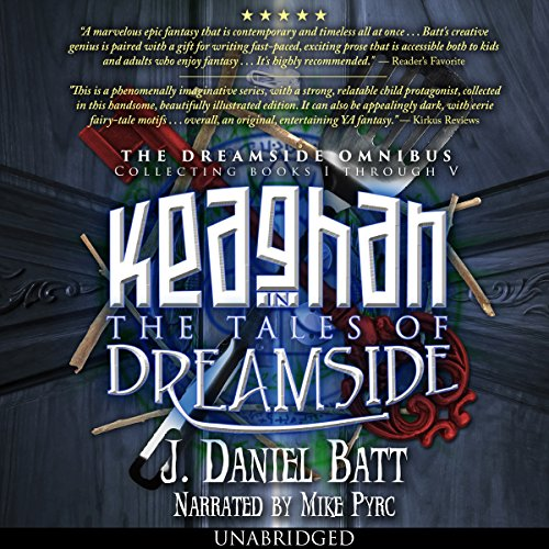 Keaghan in the Tales of Dreamside audiobook cover art