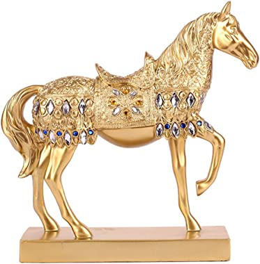 better us Chinese Feng Shui Horse Statue Sculpture Home Office Decoration Tabletop Decor Ornaments for Wealth and Success Goo