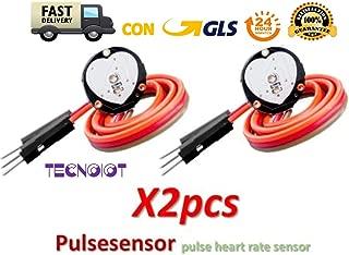 TECNOIOT 2pcs Pulsesensor Heart Rate Pulse Sensor Module