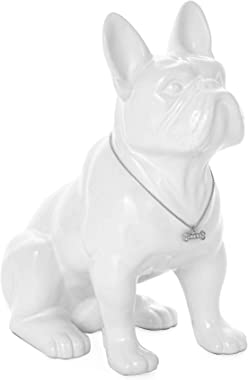 Torre & Tagus Sitting French Bulldog Sculpture Decor Small Animal Statue for Home Office, Book Shelf, Kitchen Countertop,
