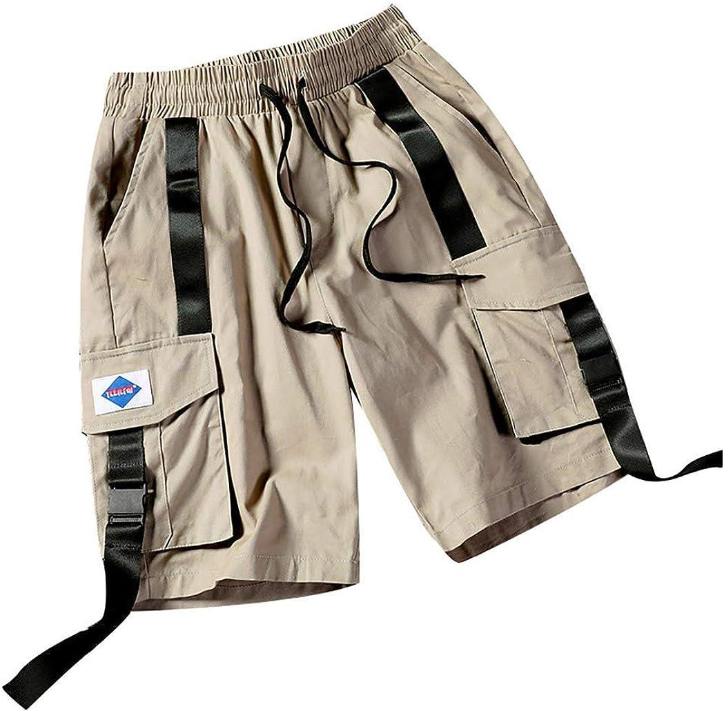 MODOQO Cargo Shorts for Men-Summer New Casual Multi-Pocket Drawstring Cargo Short Pants