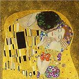 Poster 20 x 20 cm: Der Kuss (Detail quer) von Gustav Klimt