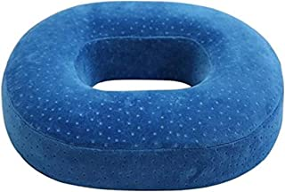 NaoFu Orthopedic Ring Cushion Made from Memory Foam, Donut Cushion for Relief of Haemorrhoids (Piles) and Coccyx Pain, Suitable for Wheelchair, Car Seat, Home Or Office (Blue)