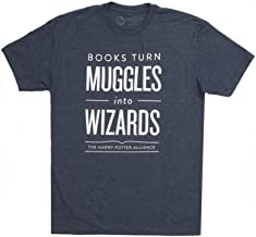 Out of Print Unisex/Men's Harry Potter Series Book-Themed Tee T-Shirt